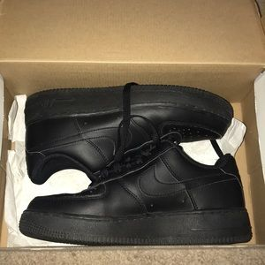 Nike Black Air Force One